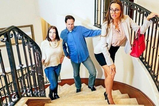 Шикарная мамка Abigail Mac трахается с сыном, пока дома находятся гости
