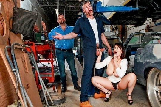 Сисястая жена изменила мужу с автослесарем