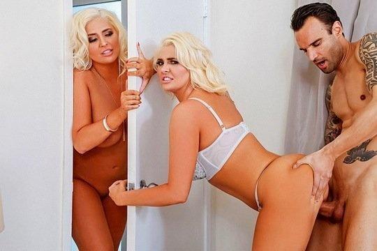 Милфа Kristina Shannon и ее сестра-близнец трахаются с молодым парнем