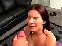 Видео нарезка семяизвержения на лица девушек